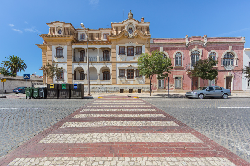 Pedestrian crossing in Portugal, Vila Real de Santo Antonio