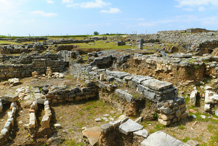 Roman ruins in Conímbriga