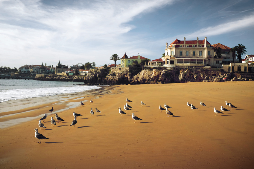 Cascais beach - a great day trip from Lisbon